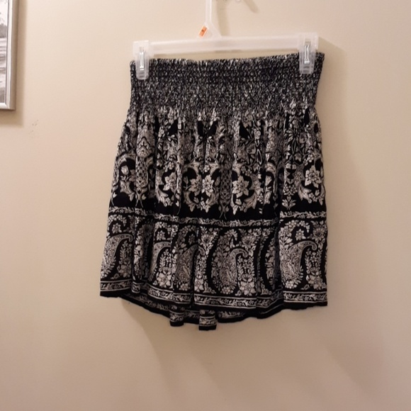 Patrons of Peace Dresses & Skirts - BLACK AND WHITE MINI SKIRT